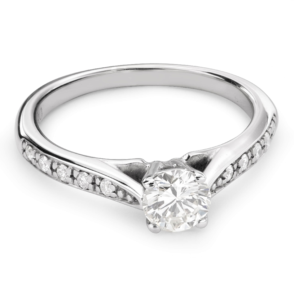 """Engagment ring with brilliants """"Grace 101"""""""