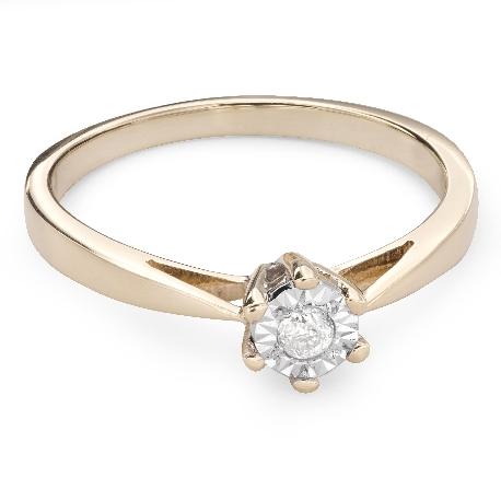 """Auksinis žiedas su Briliantu """"Mylimasis 66"""""""