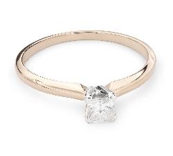 """Auksinis žiedas su Deimantais """"Princesė 55"""""""