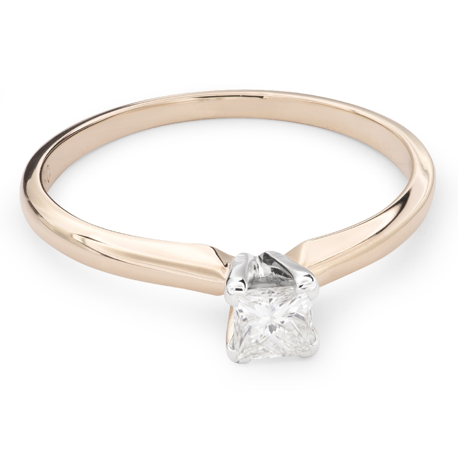 "Gold ring with diamonds ""Princess 55"""
