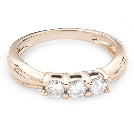 """Auksinis žiedas su Deimantais """"Trilogija 20"""""""