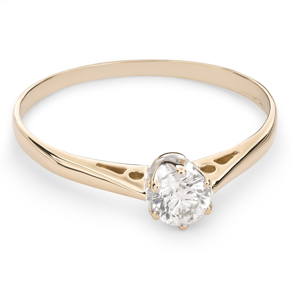 """Engagement ring with brilliant """"The only one 83"""""""