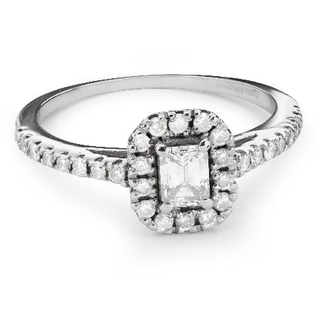 """Auksinis žiedas su deimantais """"Grakštumas 106"""""""