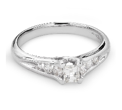 """Engagement ring with diamonds """"Grace 105"""""""