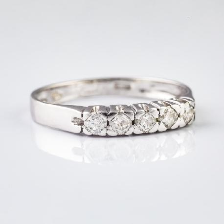 """Auksinis žiedas su Deimantais """"Deimantinė Juostelė 4"""""""