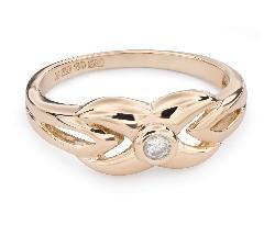 """Auksinis žiedas su Briliantu """"Gyvybė 28"""""""