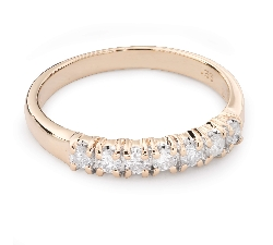 "Gold ring with brilliants ""Diamond strip 47"""