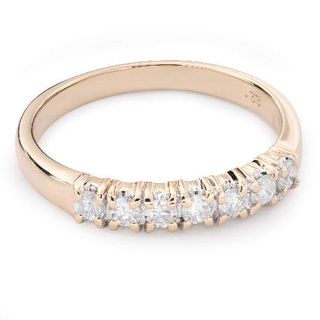 """Auksinis žiedas su briliantais """"Deimantinė juostelė 47"""""""