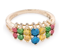 "Gold ring with diamonds ""Colors 41"""