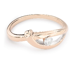 """Gold ring with brilliant diamond """"Life 29"""""""
