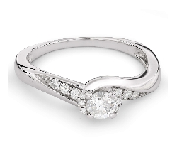 "Engagement ring with diamonds ""Hurricanes 24"""