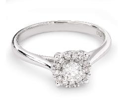 """Auksinis žiedas su Briliantais """"Briliantinė Gėlė 33"""""""
