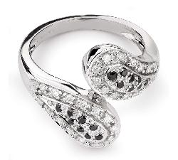 """Auksinis žiedas su Deimantais """"Grakštumas 107"""""""