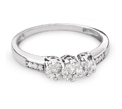 """Engagment ring with brilliants """"Trilogy 22"""""""