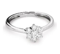 """Auksinis žiedas su Briliantais """"Briliantinė Gėlė 34"""""""