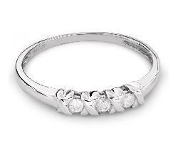 """Auksinis žiedas su Briliantais """"Trilogija 25"""""""