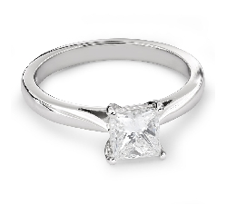 "Engagement ring with diamond ""Princess 63"""