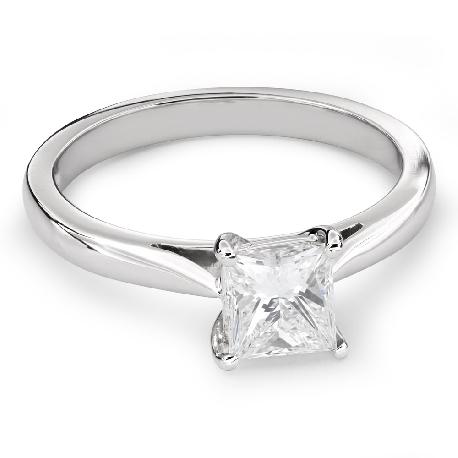 "Engagement ring with diamond ""Princess 63"""