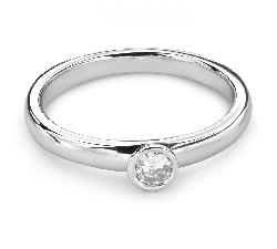 """Auksinis žiedas su Briliantu """"Tarp Uolų 21"""""""