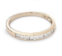 "Gold ring with brilliants ""Diamond strip 48"""