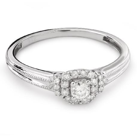 """Auksinis žiedas su Briliantais """"Briliantinė Gėlė 35"""""""