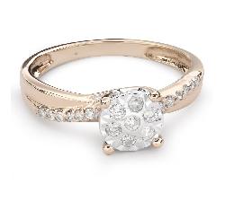 """Auksinis žiedas su Briliantais """"Mylimasis 98"""""""