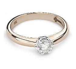 """Auksinis žiedas su Briliantu """"Mylimasis 108"""""""