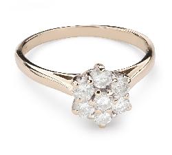 """Auksinis žiedas su Briliantais """"Briliantinė Gėlė 36"""""""