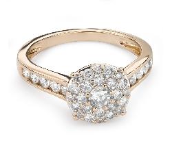 """Auksinis žiedas su Briliantais """"Briliantų puokštė 46"""""""