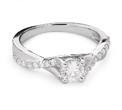 "Engagment ring with brilliants ""Intertwined destinies 39"""