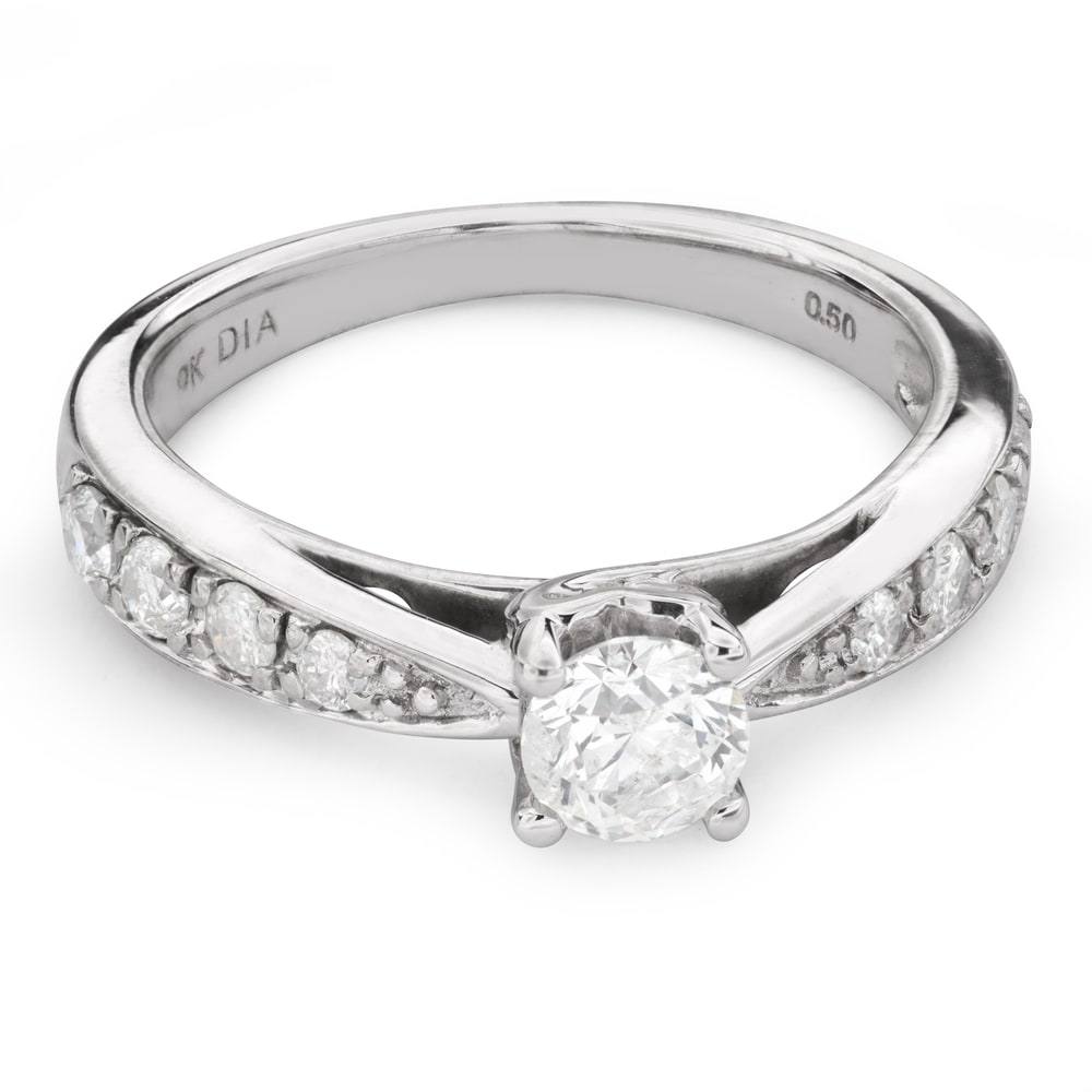 """Engagment ring with brilliants """"Grace 109"""""""