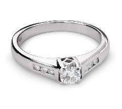 """Auksinis žiedas su Briliantais """"Grakštumas 111"""""""