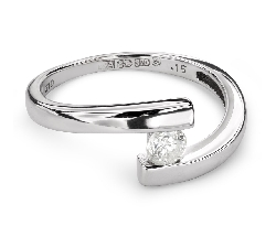 """Engagement ring with brilliant """"Intertwined destinies 41"""""""