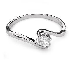 """Auksinis žiedas su Briliantu """"Meilės Glėbyje 38"""""""