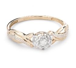 """Auksinis žiedas su Briliantu """"Mylimasis 105"""""""