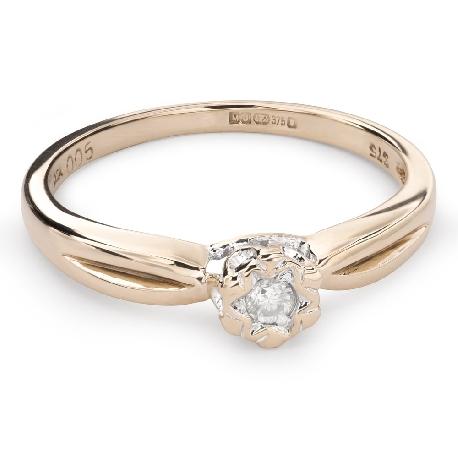 """Auksinis žiedas su Briliantu """"Mylimasis 106"""""""