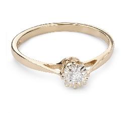 """Auksinis žiedas su Briliantu """"Mylimasis 107"""""""