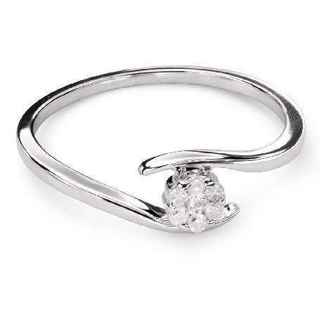 """Auksinis žiedas su Briliantais """"Meilės Glėbyje 39"""""""