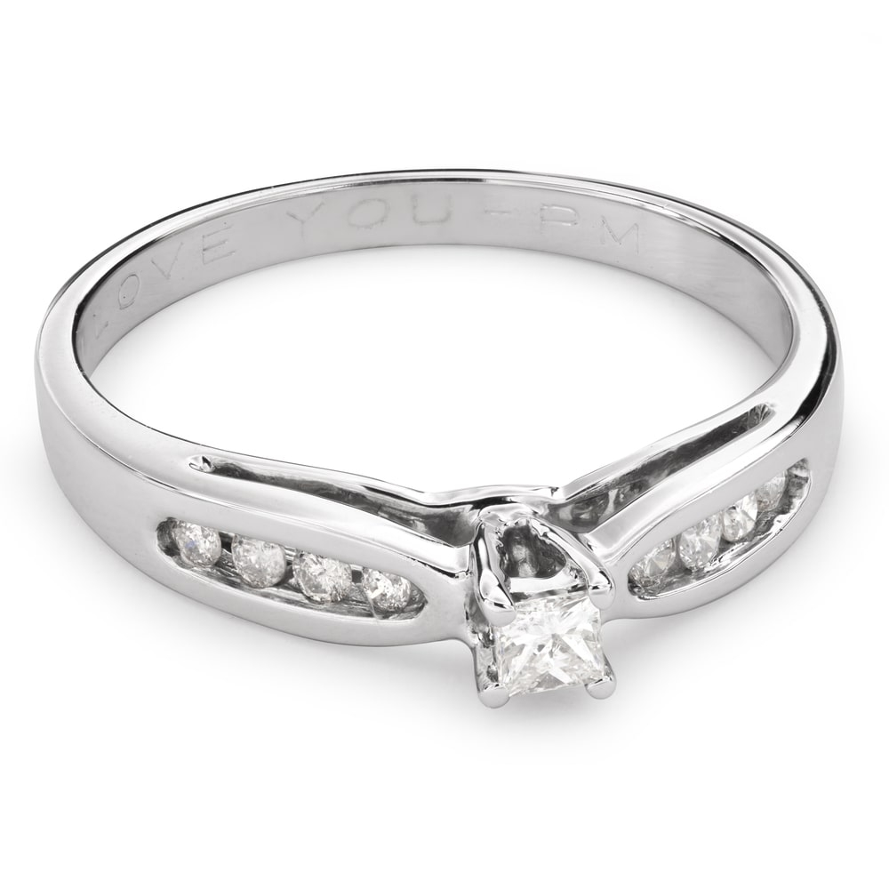 """Engagement ring with diamonds """"Grace 112"""""""