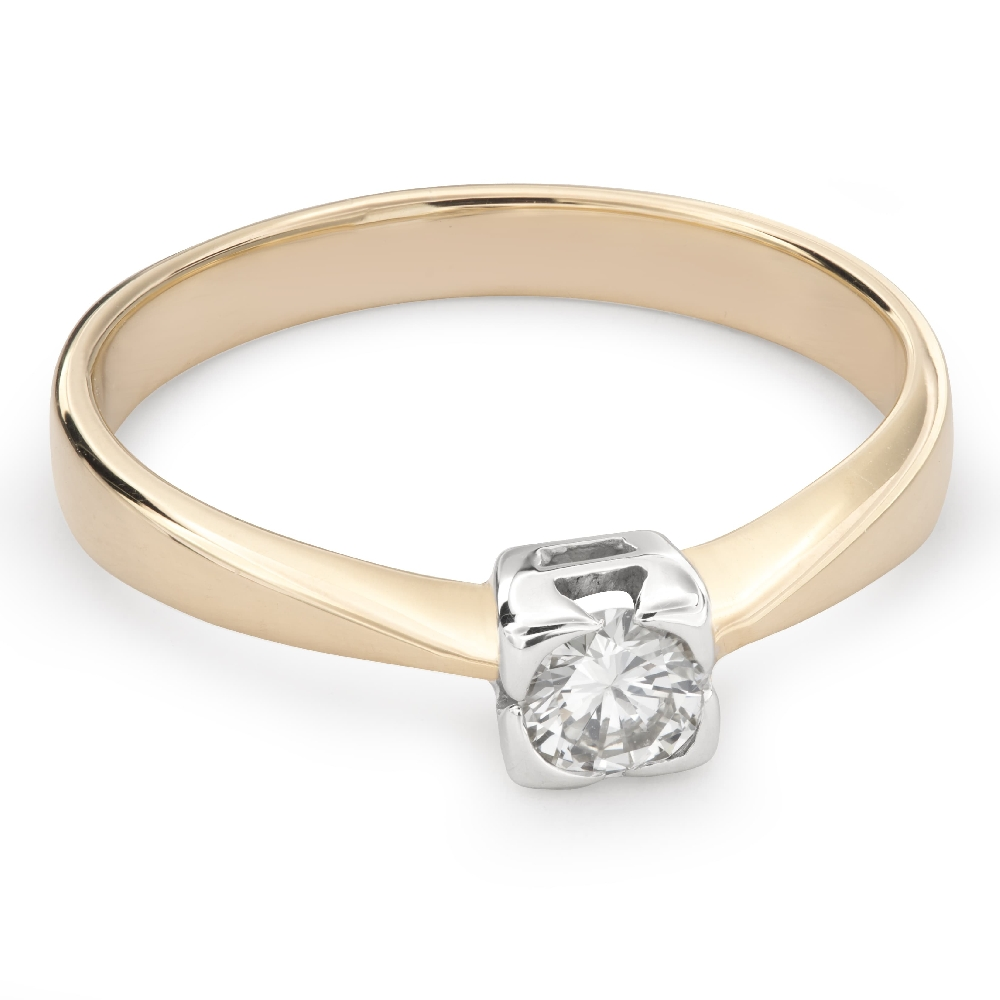 """Engagement ring with diamond """"Strength 98"""""""