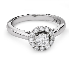 """Engagment ring with brilliants """"Diamond flower 41"""""""