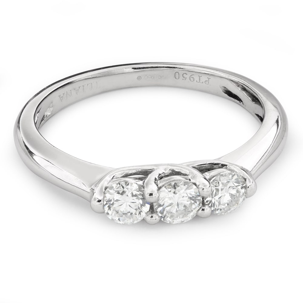 """Engagment ring with brilliants """"Trilogy 31"""""""