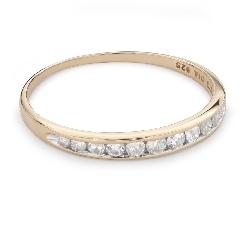 """Auksinis žiedas su briliantais """"Deimantinė juostelė 49"""""""
