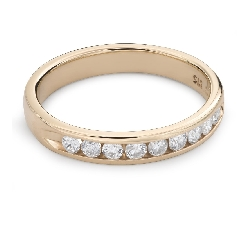 """Auksinis žiedas su briliantais """"Deimantinė juostelė 50"""""""