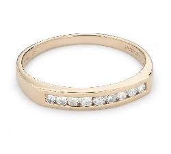 """Auksinis žiedas su briliantais """"Deimantinė juostelė 51"""""""