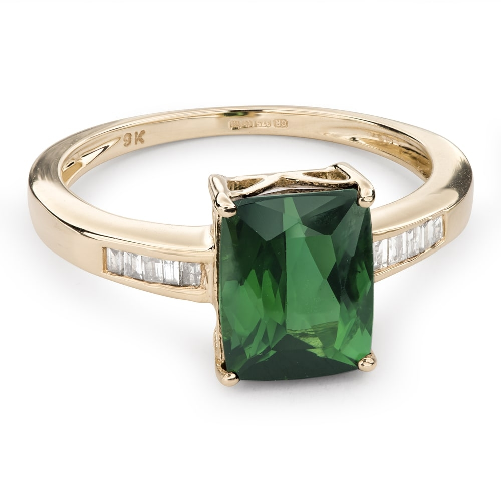 """Gold ring with gemstones """"Colors 62"""""""