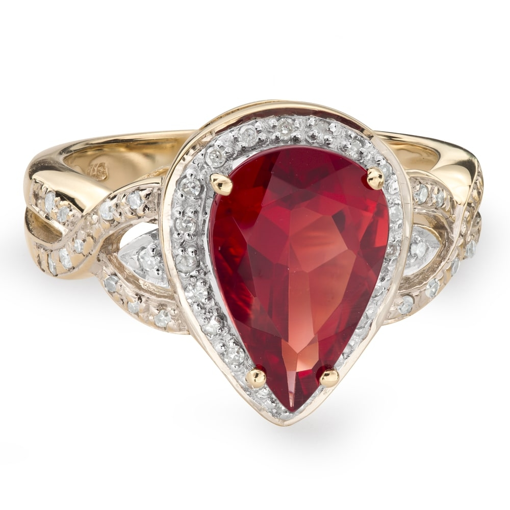 """Gold ring with gemstones """"Colors 50"""""""