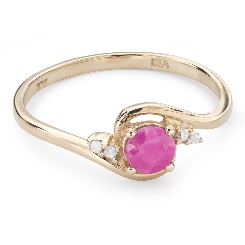 """Gold ring with gemstones """"Ruby 42"""""""