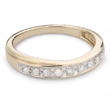 """Auksinis žiedas su briliantais """"Deimantinė juostelė 52"""""""