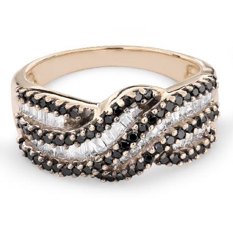 """Auksinis žiedas su deimantais """"Spalvos 60"""""""
